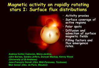 Magnetic activity on rapidly rotating stars I: Surface flux distributions