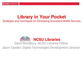 Library in Your Pocket Strategies and Techniques for Developing Successful Mobile Services
