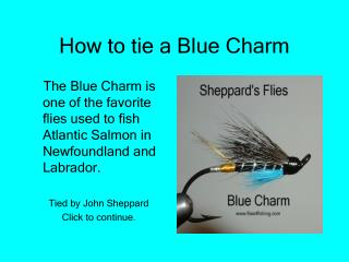 How to tie a Blue Charm