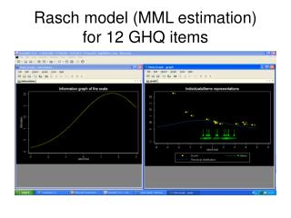 Rasch model (MML estimation) for 12 GHQ items
