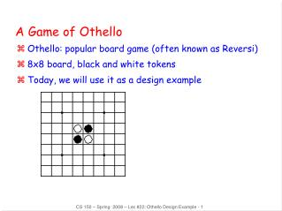 A Game of Othello