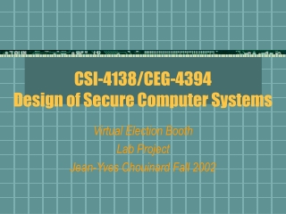 Applied Cryptography and Computer Security