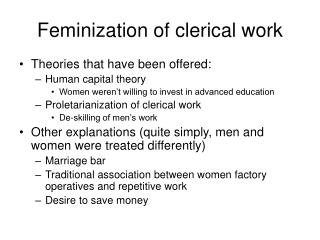 Feminization of clerical work