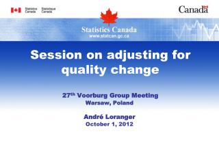 Session on adjusting for quality change