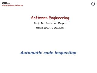 Automatic code inspection