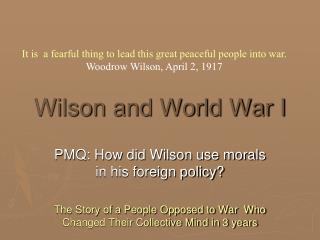 Wilson and World War I