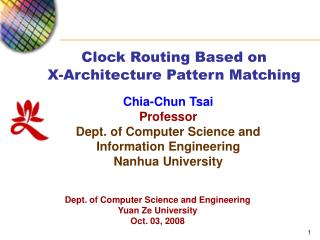 Clock Routing Based on  X-Architecture Pattern Matching