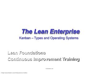 The Lean Enterprise