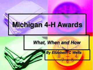 Michigan 4-H Awards