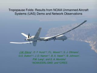 Tropopause Folds: Results from NOAA Unmanned Aircraft Systems (UAS) Demo and Network Observations