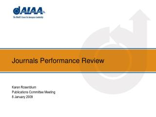 Journals Performance Review