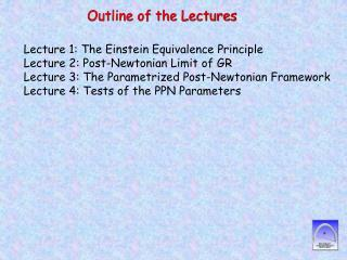 Outline of the Lectures