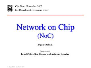 Network on Chip  (NoC)