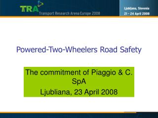 Powered-Two-Wheelers Road Safety