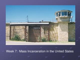 Week 7:  Mass Incarceration in the United States