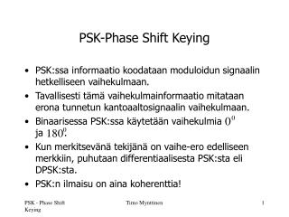 PSK-Phase Shift Keying