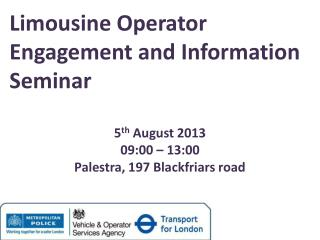 Limousine Operator Engagement and Information Seminar