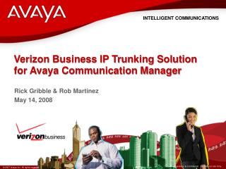 Verizon Business IP Trunking Solution for Avaya Communication Manager