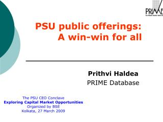 PSU public offerings:         A win-win for all