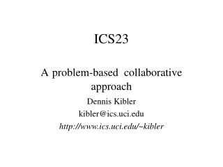ICS23 A problem-based  collaborative approach