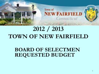 2012 / 2013 TOWN OF NEW FAIRFIELD