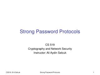 Strong Password Protocols