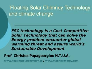 Floating Solar Chimney Technology     and climate change