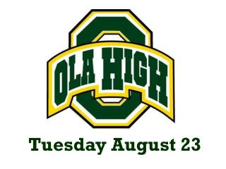Tuesday August 23