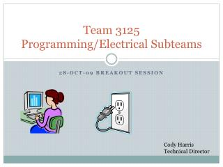 Team 3125 Programming/Electrical  Subteams