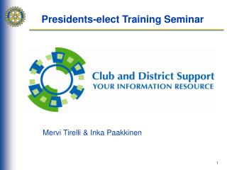 Presidents-elect Training Seminar