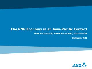 The PNG Economy in an Asia-Pacific Context