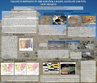 URANIUM DEPOSITS IN THE ESPAÑOLA BASIN, SANTA FE COUNTY,  NEW MEXICO