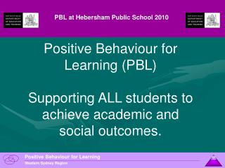 PBL at Hebersham Public School 2010