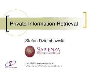 Private Information Retrieval
