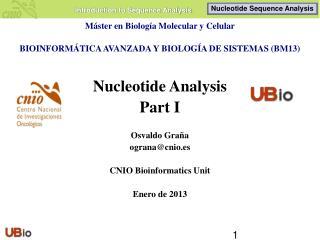 Máster en Biología Molecular y Celular BIOINFORMÁTICA AVANZADA Y BIOLOGÍA DE SISTEMAS (BM13)