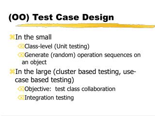 (OO) Test Case Design