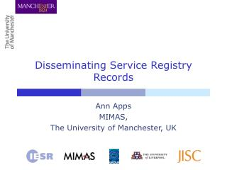 Disseminating Service Registry Records