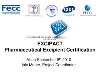 EXCIPACT Pharmaceutical Excipient Certification