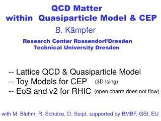 QCD Matter within Quasiparticle Model & CEP