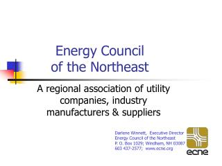 Energy Council  of the Northeast