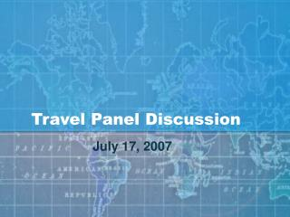 Travel Panel Discussion