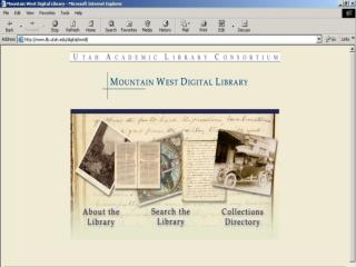 The Mountain West  Digital Library