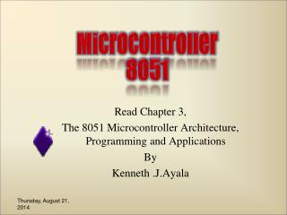 Read Chapter 3, The 8051 Microcontroller Architecture, Programming and Applications By