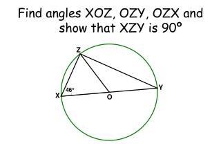 Find angles XOZ, OZY, OZX and show that XZY is 90º