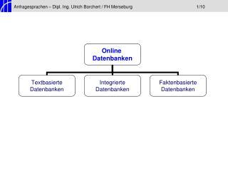 Anfragesprachen – Dipl. Ing. Ulrich Borchert / FH Merseburg1/10