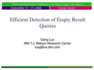 Efficient Detection of Empty Result Queries