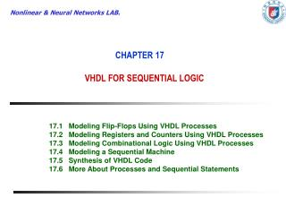 CHAPTER 17 VHDL FOR SEQUENTIAL LOGIC