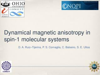 Dynamical magnetic anisotropy in spin-1 molecular systems
