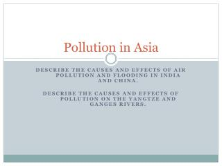 Pollution in Asia