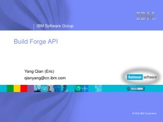 Build Forge API